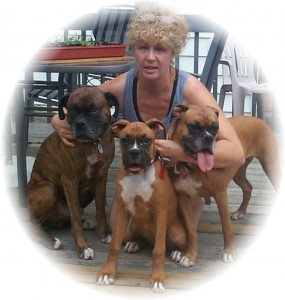 Bree Weasner and her Boxer Dogs